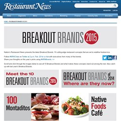 10 cutting-edge restaurant concepts: Breakout Brands of 2015