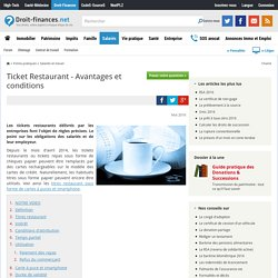 Ticket Restaurant - Avantages et conditions