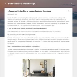 6 Restaurant Design Tips to Improve Customer Experience