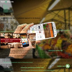 Restaurant Mobile App-A Customized Approach to do Business