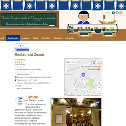 Zozan, restaurant Kurde, Paris, France (horaires, prix, description et avis)
