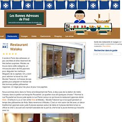 Walaku, restaurant Japonais, Paris, France (horaires, prix, description et avis)