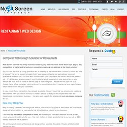 Top Restaurant Web design Company - Next Screen