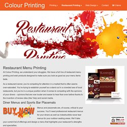 Restaurant Menu Design in NJ, Restaurant Menu Printing