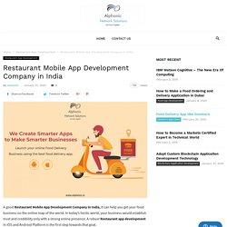 Restaurant Mobile App Development Company