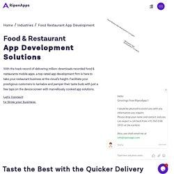 Food Restaurant App Development Company in London, UK