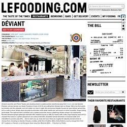 Restaurant Déviant in Paris