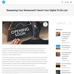 How to Reopen your Restaurant? Digital to-do list for grand opening
