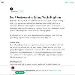 Top 5 Restaurant to Eating Out in Brighton