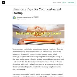 Financing Tips For Your Restaurant Startup - Econolease Financial Services Inc - Medium