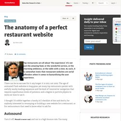 The anatomy of a perfect restaurant website