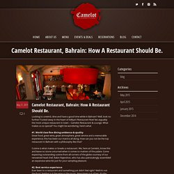 Camelot Restaurant - Top Restaurants In Bahrain