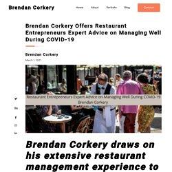 Brendan Corkery Restaurant Entrepreneurs expert