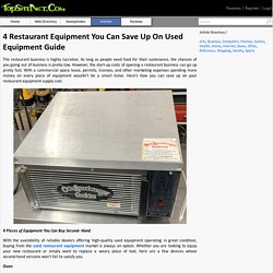 4 Restaurant Equipment You Can Save Up On Used Equipment Guide