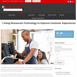 Using Restaurant Technology to Improve Customer Experiences