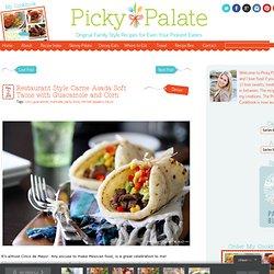 Restaurant Style Carne Asada Soft Tacos with Guacamole and Corn