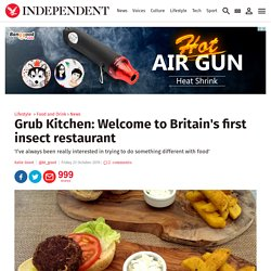Grub Kitchen: Welcome to Britain's first insect restaurant