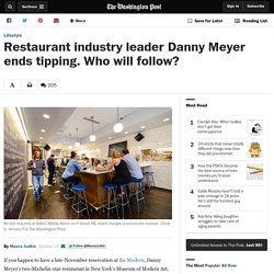 Restaurant industry leader Danny Meyer ends tipping. Who will follow?