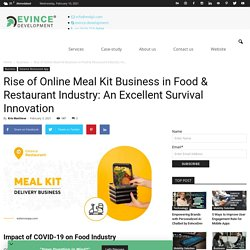 Rise of Online Meal Kit Business in Food & Restaurant Industry: An Excellent Survival Innovation