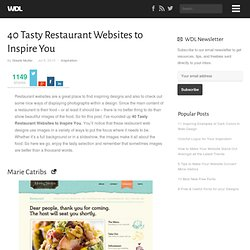 40 Tasty Restaurant Websites to Inspire You