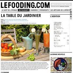 Restaurant La Table du Jardinier à Argoules