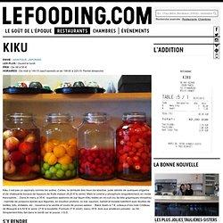 Restaurant Kiku à Paris