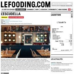 Restaurant L'Escudella à Paris