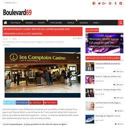 Un restaurant Casino refuse de laisser manger une personne car elle est mineure