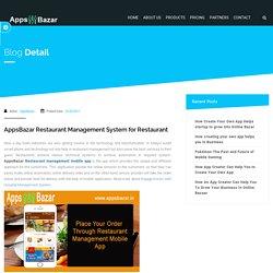 AppsBazar Restaurant Management System for Restaurant