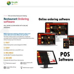 World Best Restaurant Ordering Software – POS Inventory All-In-One Management Solutions