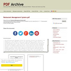 Restaurant Management System .pdf - PDF Archive