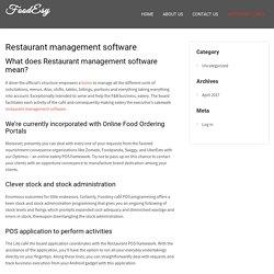 Restaurant management software - FoodEsy