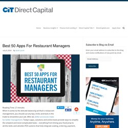 Best 50 Apps For Restaurant Managers