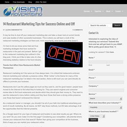 14 Restaurant Marketing Tips – Success Online and in the Restaurant