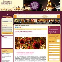 Restaurant Noël Paris : les meilleures adresses où passer le réveillon