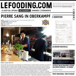 Restaurant Restaurant Pierre-Sang Boyer à Paris