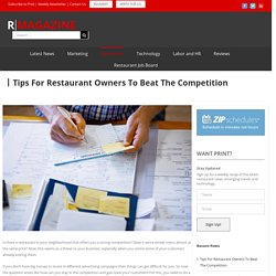 Tips For Restaurant Owners To Beat The Competition
