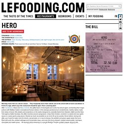Restaurant Hero in Paris - Le Fooding® Guide