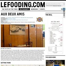 Restaurant Aux Deux Amis 75011
