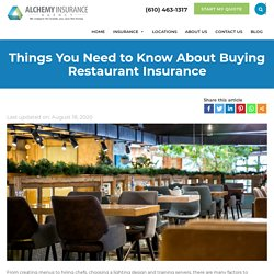 Restaurant Insurance in Pennsylvania: Important Things You Need to Know