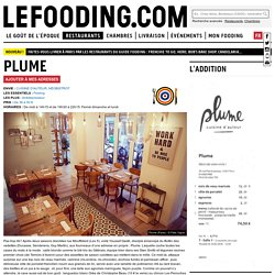 Restaurant Plume à Paris