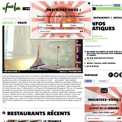 restaurant Pratz à paris 09 - Guide A FOOD TALE