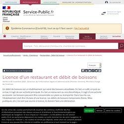 Licence d'un restaurant et débit de boissons - professionnels