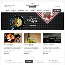 Perfect Restaurant Theme by ProteusThemes