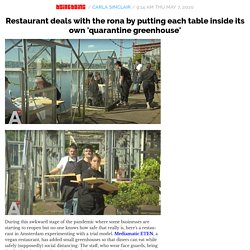 Restaurant deals with the rona by putting each table inside its own 'quarantine greenhouse'