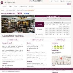 Restaurant Le Comptoir Baulois à Paris 9ème : Réservation - Reduction - 1 repas offert