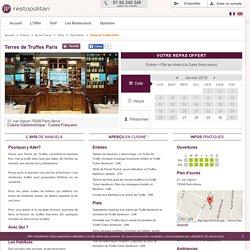 Restaurant Terres de Truffes Paris à Paris 8ème : Réservation - Reduction - 1 repas offert