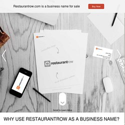 Restaurant Row - The Ultimate Online Dining Guide : RestaurantRo