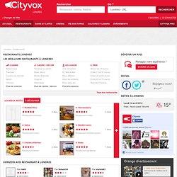 Restaurant Londres: les meilleurs restaurants de Londres - Cityvox