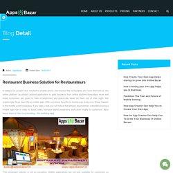 Restaurant Business Solution for Restaurateurs